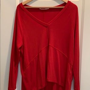 Red VNeck sweater size small